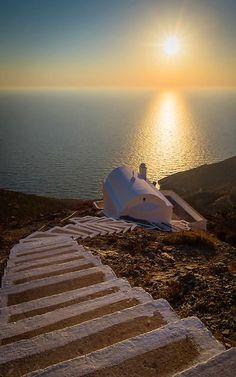 Chapel at sunset.. Olympos village, Karpathos Island, Greece | by Spiros Vathis