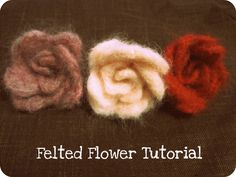 These felted flowers are simple to put together and can be used to decorate a purse, shirt, headband or whatever you just feel like jazzing ...