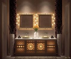 Moroccan Bathroom Design - Best Of Moroccan Bathroom Design, 10 bathroom decorating ideas for moroccan style lovers Double Sink Bathroom, Bathroom Sink Vanity, Bathroom Spa, Bathroom Interior, Bathroom Ideas, Small Bathroom, Bathroom Remodeling, Bathrooms Decor, Glass Bathroom