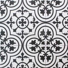 Ook als wandteg te gebruiken?Vloertegel amantus black zwart 20x20cm vintage 14mm bestel je eenvoudig bij Tegels in Huis