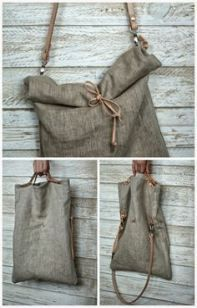 Fabric Handmade Bag FRANCESCA a beautiful handmade Vintage Military Fabric bag Sewing Clothes, Diy Clothes, Leather Bag Tutorial, Diy Sac, Linen Bag, Fabric Bags, Vintage Bags, Handmade Bags, Purses And Bags