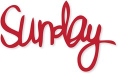 Silhouette Online Store - View Design #10666: sunday