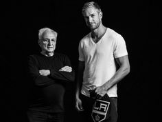 Los Angeles Kings Jeff Carter with iconic architect Frank Gehry