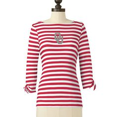 OU Sooners Boat Neck Shirt