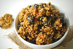 Homemade Granola (with quinoa and steel cut oats)
