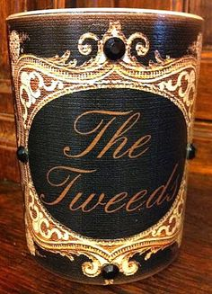 Personalized Black Vintage Candle French by VintageWicksNMore, $26.00