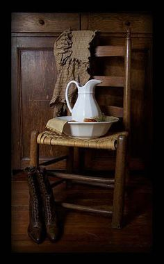 ♥ circa1892homesteadprimitives old woven seat chair like mine also boots and a prairie hat