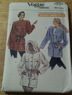 Vintage 1989  Vogue Misses Jacket    Sewing Pattern #7683 Coat Patterns, Sewing Patterns, Vogue, Jackets, Vintage, Ebay, Down Jackets, Jacket, Vintage Comics