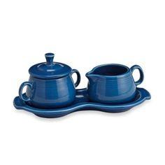 Fiesta® Lapis Sugar Bowl and Creamer Tray Set - BedBathandBeyond.com