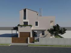 Vista del prospetto ovest, lato ingresso - Massimo Rinaldo architetto