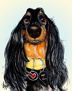 Dachshund – Friendly and Curious Brown Dachshund, Dachshund Art, Long Haired Dachshund, Dachshund Puppies, Dogs And Puppies, Funny Puppies, Daschund, Scottish Terrier, Face Sketch