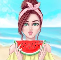 Find images and videos about love, ﺭﻣﺰﻳﺎﺕ and accessory on We Heart It - the app to get lost in what you love. Girly Drawings, Art Drawings For Kids, Cute Cartoon Girl, Cartoon Art, Sarra Art, Girly M, Cute Girl Drawing, Black Girl Art, Girl Sketch