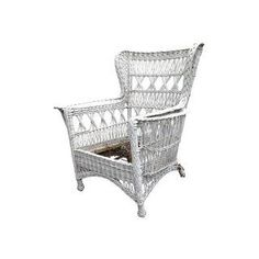 Results for Asian, Shabby Chic, Traditional 1920s Bar, Outdoor Chairs, Outdoor Furniture, Outdoor Decor, Painted Wicker, White Wicker, Wing Chair, Accent Chairs, Armchair