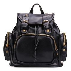 Nice High Quality Large Women's Casual Leather Backpack w/4 Great Colors to Choose From
