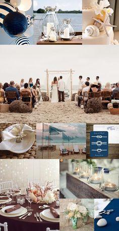 Modern, and romantic beach wedding inspiration.