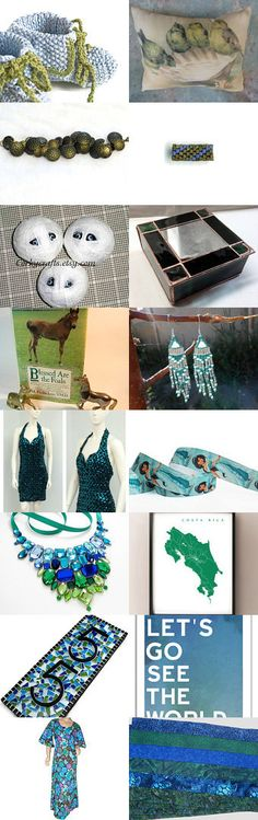 Love the color green with a splash of blue.... by Michael Carty on Etsy--Pinned with TreasuryPin.com