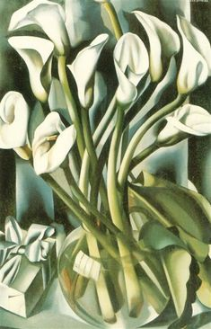 Calla lilies is one of artworks by Tamara Lempicka. Artwork analysis, large resolution images, user comments, interesting facts and much more. Calla Lillies, Calla Lily, Tamara Lempicka, Sister Poses, Luminous Colours, Painting Gallery, Art Database, Deco Design, Watercolor Techniques