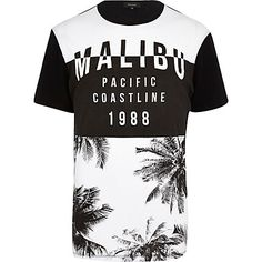 Black Malibu palm tree print t-shirt £8.00 - that should be mine!