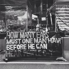 How many ears must one man have  Before he can hear people cry? — Bob Dylan (kadrikarolin's photo on Instagram: #hkig #hongkong #umbrellarevolution #occupycentral #hkclassboycott #和平佔中 #佔中 #vsco #vscocam)