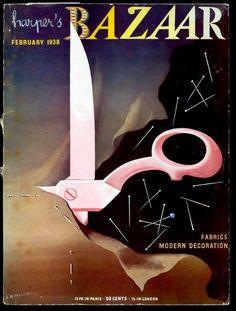 1938 Harper's Bazaar cover by A.M. Cassandre