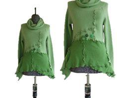 Asymmetric Sweater S/M Small Medium Eco von RebeccasArtCloset