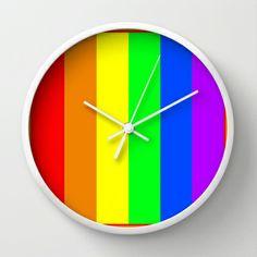 Rainbow Wall Clock by Bruce Stanfield - $30.00 Rainbow Wall, Wall Clocks, Home Decor, Decoration Home, Room Decor, Clock Wall, Interior Decorating