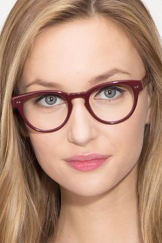 8498ebd94f Oversea Dark Red Acetate Eyeglasses from EyeBuyDirect. Exceptional style
