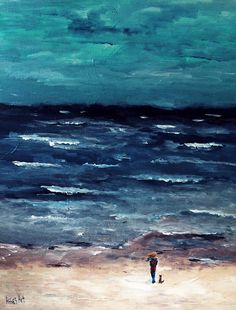 "Acryl Painting  ""De Kust""  60x50cm"