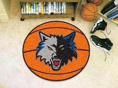FanMats NBA - Minnesota Timberwolves Basketball Mat 26 diameter