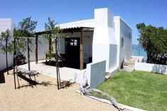 Baby Blue Cottage - Baby Blue is a compact studio cottage equipped with everything a couple or small family needs for a seaside break. Situated above Sandbaai in Langebaan, guests have direct beach access and unimpeded views. The ... #weekendgetaways #langebaan #southafrica