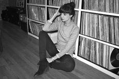 bookshelves FULL of record albums!