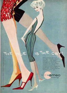 1950 Cameo stockings nylons hosiery ad