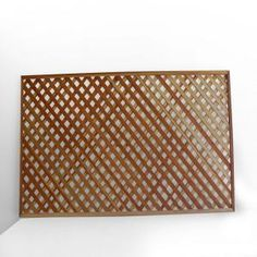 Redwood Privacy Framed Lattice (Common: 1-3/8 in. 4 ft. x 8 ft.; Actual: 1.38 in. x 48 in. x 96 in.), 01266 at The Home Depot - Mobile