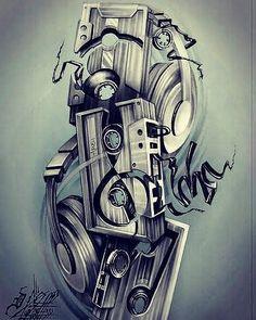 19 Best ideas for music tattoo headphones tat Dj Tattoo, Hip Hop Tattoo, Theme Tattoo, Note Tattoo, Tiny Tattoo, Tattoo Flash, Music Tattoo Designs, Music Tattoos, Body Art Tattoos