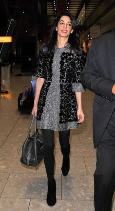 Amal Clooney in Dolce & Gabbana out of Heathrow ahead of US Thanksgiving|Lainey Gossip Entertainment Update
