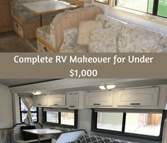 Last year we bought our first RV. We've had the RV bug for quite some time and we had looked at several Class A motorhomes. The problem was the units we looked at that were in our price range were all in pretty poor shape. Small Motorhomes, Class A Motorhomes, Motorhome Interior, Rv Interior, Motorhome Living, Rv Cabinets, Class A Rv, Rv Redo, Camper Makeover