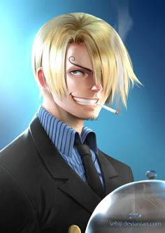 Sanji ( One Piece ) by Sebiji.deviantart.com on @DeviantArt