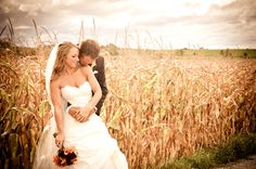 Good old country wedding photo. Super cute idea for a picture, even just an engagement picture