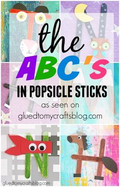 The ABC's In Popsicle Sticks  by Stacey-- I've decided to centralize these crafty ideas into ONE BIG The ABC's In Popsicle Sticks post! This way you can use my images for inspiration reference and plan out your crafts in one location. This also will keep motivated to fill EACH spot in the alphabet by the end of the year!!! YAY for goals!!!