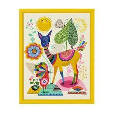 Llama Wall Art in All Wall Art | The Land of Nod