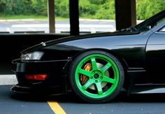Silvia S14 with Green Rims