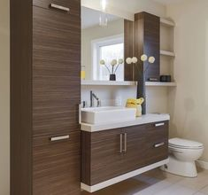 By installing a corner bathroom sink cabinet design, a stylish interior element appears. Bathroom Cabinets Over Toilet, White Bathroom Shelves, Corner Sink Bathroom, Bathroom Shelf Decor, Bathroom Toilets, Bathroom Interior, Modern Bathroom, Small Bathroom, Master Bathroom