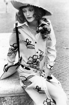 Loulou de la Falaise, photographed by Elisabetta Catalano in Rome, 1971.