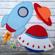 Accessories for Astronaut boy and girl felt dolls available at https://www.etsy.com/shop/SchoolhouseBoutique
