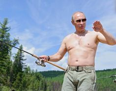 Extreme-ski fishing: Vladimir Putin strips to his waist again for macho hunting trip Vladimir Putin, Putin Shirtless, Fishing Holidays, Putin Trump, Brics, Fidel Castro, Crazy Life, World Leaders, New Books