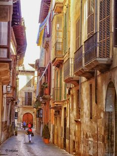 The old town - Palma de Mallorca, Spain