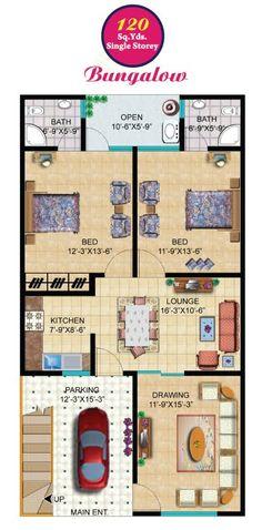 Budget-Friendly Home Plans – Donald A. 30x40 House Plans, 2 Bedroom House Plans, Home Map Design, Duplex House Design, 2bhk House Plan, Model House Plan, South Facing House, Open Baths, Low Budget House