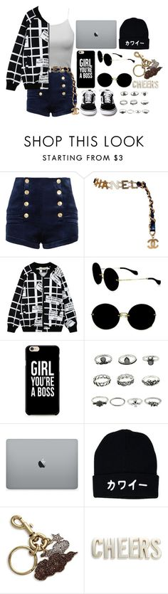 """""""Song of the Day (Description)"""" by lorna-castillo ❤ liked on Polyvore featuring Pierre Balmain, Chanel, Chicnova Fashion, Miu Miu, Marc Jacobs and Kate Spade"""