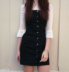 Mode Outfits, Outfits For Teens, Dress Outfits, Fall Outfits, Casual Outfits, Grunge Outfits, Outfits 2016, Black Outfits, Korean Outfits Cute