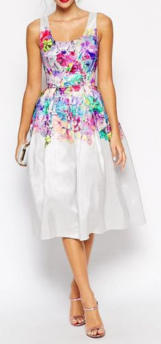 Beautiful Floral Super Full Prom Dress